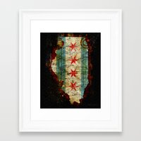chicago Framed Art Prints featuring Chicago by Tim Jarosz