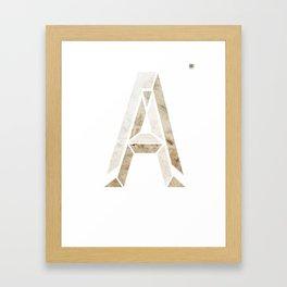 Varsity Alternate Framed Art Print