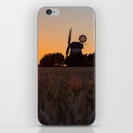 North German windmill from old time in the sunset iPhone Skin