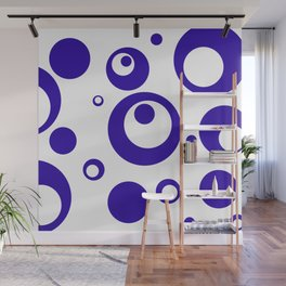 Circles Dots Bubbles :: Blueberry Inverse Wall Mural