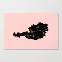 Austria map Canvas Print