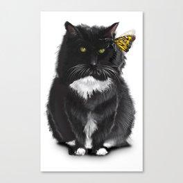 Cat Xena Warrior Princess Canvas Print