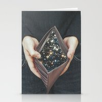 wallet Stationery Cards featuring space nebula by marzesu collages