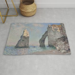 The Rock Needle and the Porte d'Aval by Claude Monet Rug