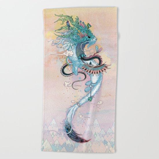 Journeying Spirit (ermine) Beach Towel
