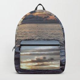 Sunset at Flat rocks Gloucester MA 7-21-18 Backpack