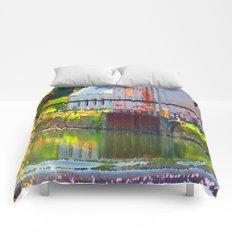Pointillism: Snoqualmie Falls Comforters