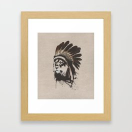 Lion Headdress Framed Art Print