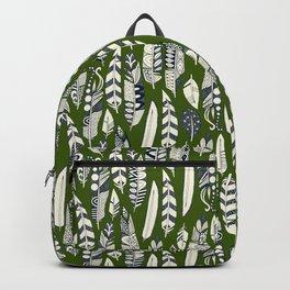 joyful feathers green Backpack