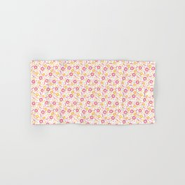Autumn Floral - yellow, red, white Hand & Bath Towel