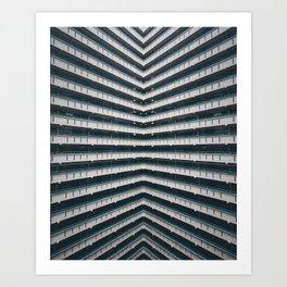 Hong Kong Lines Art Print