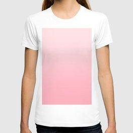 Pastel Pink to Pink Horizontal Linear Gradient T-shirt