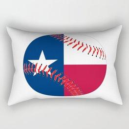 Texas Flag Baseball Rectangular Pillow