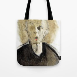 12,000pixel-500dpi - Red spotted self-portrait - Helene Sofia Schjerfbeck Tote Bag