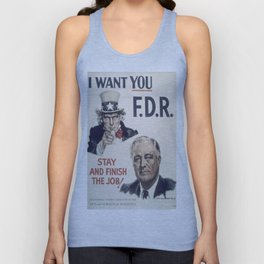 Vintage poster - I Want You FDR Unisex Tank Top