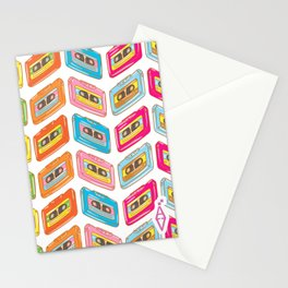 Music tape color fantasy Stationery Cards