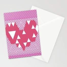 Heart pink Stationery Cards