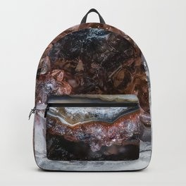 Tiny geode crystal cave Backpack