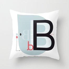 B b Throw Pillow