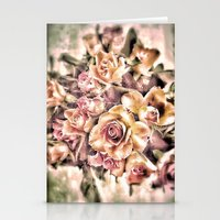 shabby chic Stationery Cards featuring Shabby Charm Chic Roses by Joke Vermeer