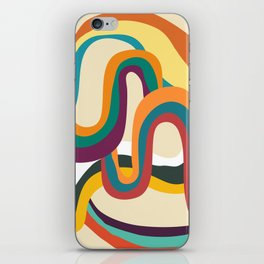 Groovy rainbow of doom iPhone Skin