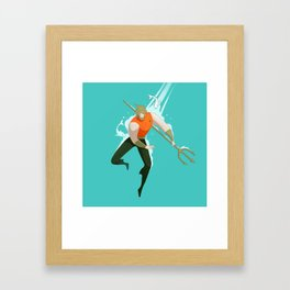With the fishes Framed Art Print