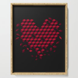 heart-shaped pattern Serving Tray
