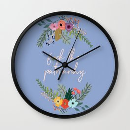 F*ck the patriarchy Wall Clock