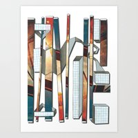industrial Art Prints featuring Industrial by Shannon Rutherford