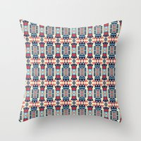 camp Throw Pillows featuring Camp by Daniac Design