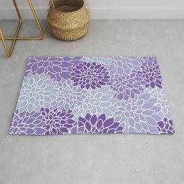 Ultra Violet Lavender Dahlias Rug