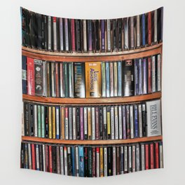 CD's on a Shelf Wall Tapestry