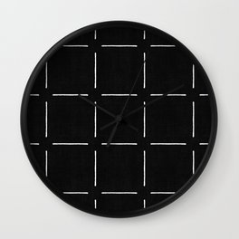 Block Print Simple Squares Wall Clock
