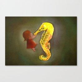 Hello Mr. Seahorse Canvas Print