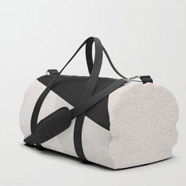 Mid Century Modern Geometry 3 black grey beige Duffle Bag