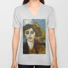 "Amedeo Modigliani ""Portrait of Maude Abrantes"" Unisex V-Neck"