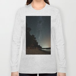 Milky way landscape at the coast of 'Colonia, Uruguay' Long Sleeve T-shirt