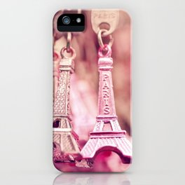 eiffel charm iPhone Case