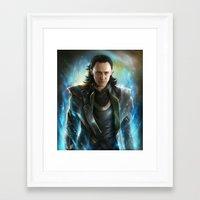 loki Framed Art Prints featuring Loki  by EternaLegend