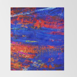(N10) Abstract Epic Colored Moroccan Artwork. Throw Blanket