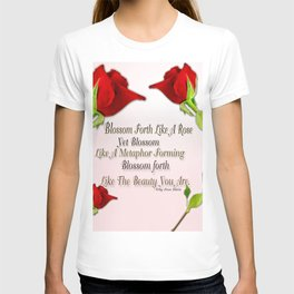 Red, Rose And pink With Quote T-shirt