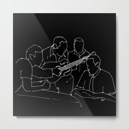 Wes and Duke jam session Metal Print