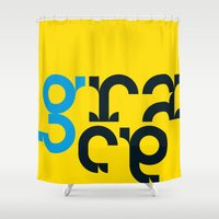 grace Shower Curtains featuring grace by Anthony Liptak