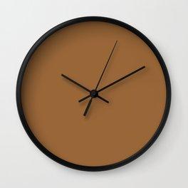 Gold brown Wall Clock