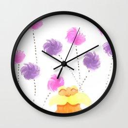 Lorax Fanart Watercolor Wall Clock