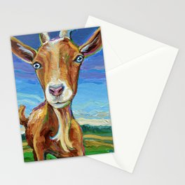 Lillie the FARM GOAT Painting Stationery Cards