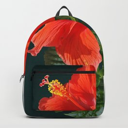 Red Darling Hibiscus Backpack