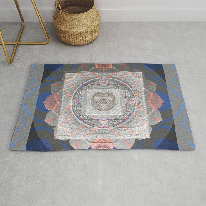 Luminous Soothing Peace Sacred Geometry Glow Print Rug by  carlieamberpartridge