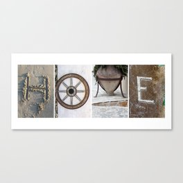 HOME photo letter art typography Canvas Print