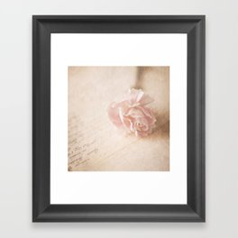 Vintage Love  Framed Art Print